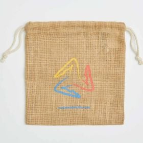 Natural jute small drawstring bag direct from manufacturer