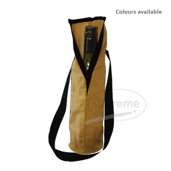 wholesale dyed canvas printed bottle bags